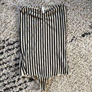 American Apparel Onesie stripe black + white